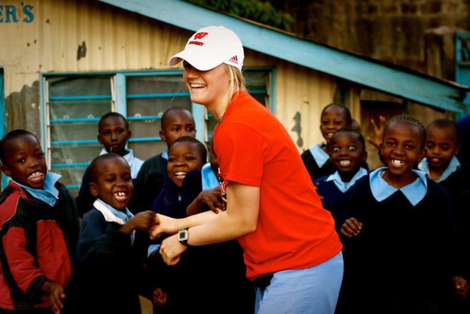 Britt with Kids