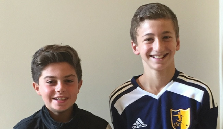 Tyler and Ben joined together to raise One World Futbols as part of their Bar Mitzvah service learning projects.